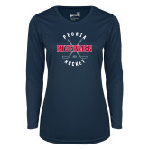 Ladies Syntrel Performance Navy Longsleeve Shirt-Crossed Sticks