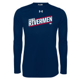 Under Armour Navy Long Sleeve Tech Tee-Peoria Rivermen HKY