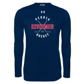 Under Armour Navy Long Sleeve Tech Tee-Crossed Sticks