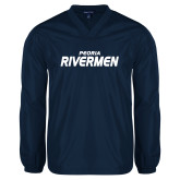 V Neck Navy Raglan Windshirt-Peoria Rivermen