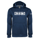 Under Armour Navy Performance Sweats Team Hoodie-Peoria Rivermen Hockey Stacked