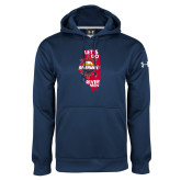 Under Armour Navy Performance Sweats Team Hoodie-Lets go Rivermen in State