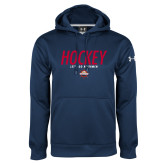 Under Armour Navy Performance Sweats Team Hoodie-Hockey - Lets Go Rivermen