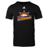Adidas Black Logo T Shirt-Peoria Rivermen Secondary Mark