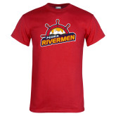 Red T Shirt-Peoria Rivermen Secondary Mark