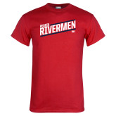 Red T Shirt-Peoria Rivermen HKY