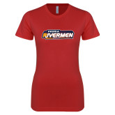 Next Level Ladies SoftStyle Junior Fitted Red Tee-Peoria Rivermen - Hockey Stick