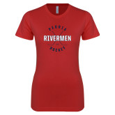 Next Level Ladies SoftStyle Junior Fitted Red Tee-Crossed Sticks