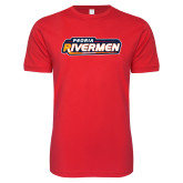 Next Level SoftStyle Red T Shirt-Peoria Rivermen - Hockey Stick