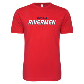 Next Level SoftStyle Red T Shirt-Peoria Rivermen