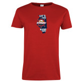 Ladies Red T Shirt-Lets go Rivermen in State