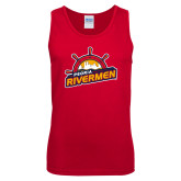 Red Tank Top-Peoria Rivermen Secondary Mark