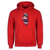 Red Fleece Hoodie-Lets go Rivermen in State