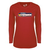 Ladies Syntrel Performance Red Longsleeve Shirt-Peoria Rivermen - Hockey Stick