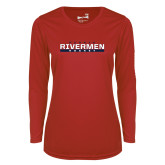 Ladies Syntrel Performance Red Longsleeve Shirt-Peoria Rivermen Hockey