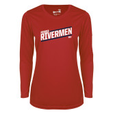 Ladies Syntrel Performance Red Longsleeve Shirt-Peoria Rivermen HKY