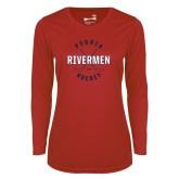 Ladies Syntrel Performance Red Longsleeve Shirt-Crossed Sticks