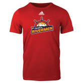 Adidas Red Logo T Shirt-Peoria Rivermen Secondary Mark
