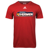 Adidas Climalite Red Ultimate Performance Tee-Peoria Rivermen - Hockey Stick