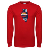 Red Long Sleeve T Shirt-Lets go Rivermen in State