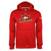 Under Armour Red Performance Sweats Team Hoodie-Peoria Rivermen Secondary Mark
