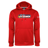 Under Armour Red Performance Sweats Team Hoodie-Peoria Rivermen - Hockey Stick