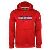 Under Armour Red Performance Sweats Team Hoodie-Peoria Rivermen Hockey Stacked