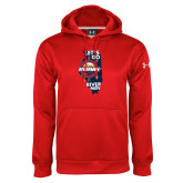 Under Armour Red Performance Sweats Team Hoodie-Lets go Rivermen in State