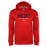 Under Armour Red Performance Sweats Team Hoodie-Hockey - Lets Go Rivermen