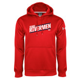 Under Armour Red Performance Sweats Team Hoodie-Peoria Rivermen HKY