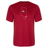 Performance Red Tee-State Outline HKY