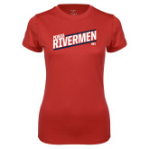 Ladies Syntrel Performance Red Tee-Peoria Rivermen HKY