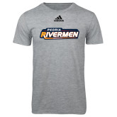 Adidas Sport Grey Logo T Shirt-Peoria Rivermen - Hockey Stick