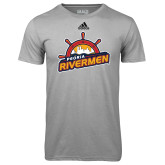 Adidas Climalite Sport Grey Ultimate Performance Tee-Peoria Rivermen Secondary Mark