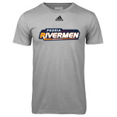 Adidas Climalite Sport Grey Ultimate Performance Tee-Peoria Rivermen - Hockey Stick