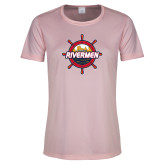 Ladies Performance Light Pink Tee-Primary Mark
