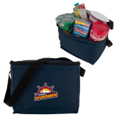 Six Pack Navy Cooler-Peoria Rivermen Secondary Mark