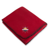 Red Arctic Fleece Blanket-Primary Mark w/out Peoria