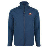 Navy Softshell Jacket-Primary Mark w/out Peoria