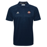 Adidas Climalite Navy Jacquard Select Polo-Primary Mark w/out Peoria