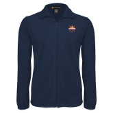 Fleece Full Zip Navy Jacket-Primary Mark w/out Peoria