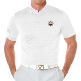 Callaway Opti Vent White Polo-Primary Mark w/out Peoria