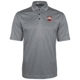 Nike Golf Dri Fit Charcoal Heather Polo-Primary Mark w/out Peoria