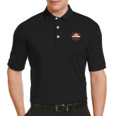 Callaway Tonal Black Polo-Primary Mark w/out Peoria