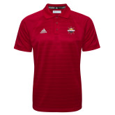 Adidas Climalite Red Jacquard Select Polo-Primary Mark w/out Peoria