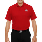 Under Armour Red Performance Polo-Primary Mark w/out Peoria