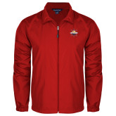 Full Zip Red Wind Jacket-Primary Mark w/out Peoria