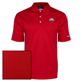 Nike Dri Fit Red Pebble Texture Sport Shirt-Primary Mark w/out Peoria
