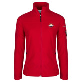 Columbia Ladies Full Zip Red Fleece Jacket-Primary Mark w/out Peoria