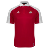 Adidas Modern Red Varsity Polo-Primary Mark w/out Peoria
